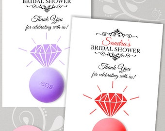Eos Bridal Shower Favors -Thank you Tags - Bridal Shower Gifts - Engagement ring - DIY Favors -PRINTABLE PDF