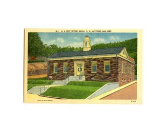 Boone NC Post Office - Vintage Postcard - US Postal Collectible, North Carolina USPS