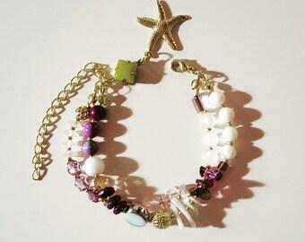 Double Bohemian Purple Bracelet