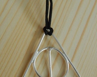 Deathly Hallows Pendant Necklace Sterling Silver Charm