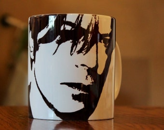 David Bowie - Silhouette Portrait - Hand Printed Cup