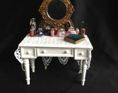 Shabby Chic/French/Cottage Vanity - Dollhouse Miniature
