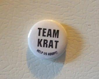 Button Magnet Help Us Adopt