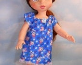 Disney's Animators Doll Sized Flannel Nightgown with Bunnies and Berries