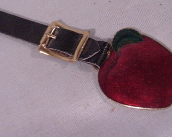 Watch Fob Medal Medallion Advertising DELICIOUS APPLES Bright Red!