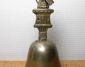 Vintage Bell, Windmill Bell, Metal, Silver, Collectibles, Small Bell, Dutch