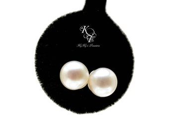 Freshwater Pearl Earrings, Genuine Pearl Earrings, Pearl Bridal Earrings, Sterling Silver Earrings, Real Pearl Earrings, Fine Jewelry
