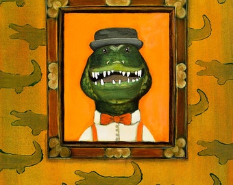 Paw Paw Gator Limited Edition Art Print