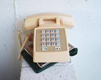 AT&T Beige Push Button Desktop Telephone