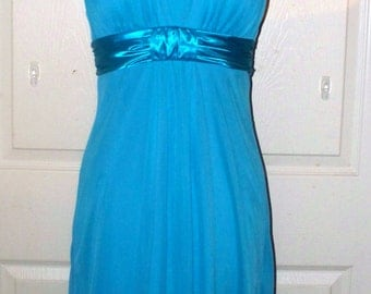 1990s Miss Bisou Cocktail Dress  - New Never Worn  - Turquoise - Short Dress