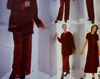 Jacket Pattern, Top,  Skirt , Pants Sewing Pattern, Vogue 2075, Five Easy Pieces, Size 14-16-18