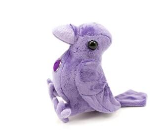 Amethyst Crow Stuffed Animal, Plush Toy, Plushie Raven, Bird Softie