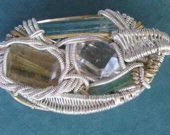925 silver wirewrapped pendant