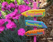 Custom Fairy Garden Directional Signs, Gnome Garden Signs, Directional Sign, Miniature Sign Post