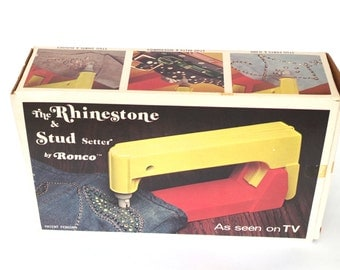 Vintage Ronco Rhinestone and Stud Setter As Seen on TV 1974 New in Box NIB