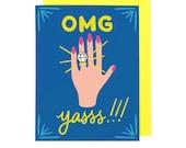 OMG Engaged Card