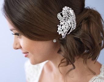 Bridal Hair Comb, Wedding Hair Comb, Wedding Hair Accessory, Vintage Hair Comb, Rhinestone Bridal Comb, Wedding Accessory ~TC-2229