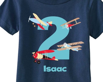vintage airplane birthday boy shirts and tshirts for first birthday second birthday any birthday