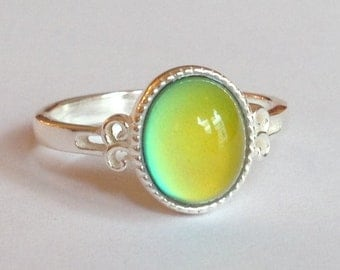 Mood Ring Sterling Silver 925 - 10x8 mm - High Quality