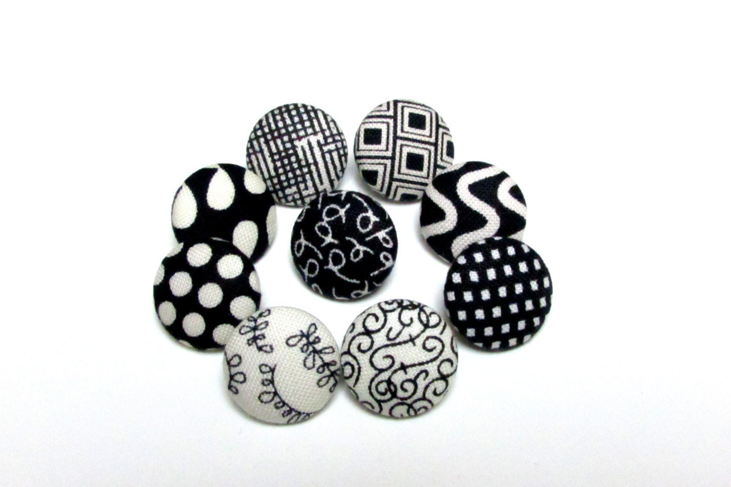 Sale black and white fabric sewing buttonsset by for Sewing fabric for sale