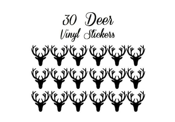 30 Deer Vinyl Decal Envelope Seals, Party Favors, Party Glasses, Unlimited Possiblities