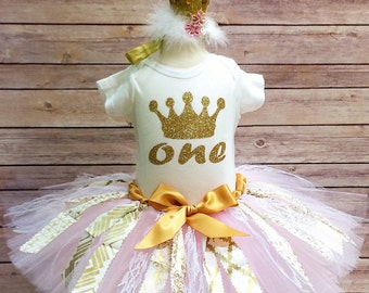 Easter Birthday Outfit Fabric Tutu Skirt 3pc Set By