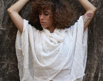 Soft hemp oversized cardiggan, adjustable cardiggan, poncho, oversized top, beachwear.