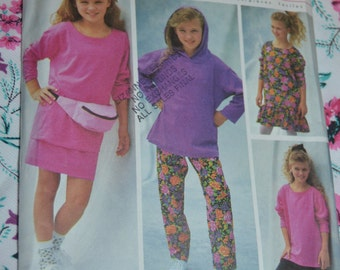 Simplicity 8195 Girls and Chubbies Pants or Shorts Skirt and  Dress or Top Sewing Pattern - UNCUT - Sizes 8 1/2 - 16 1/2