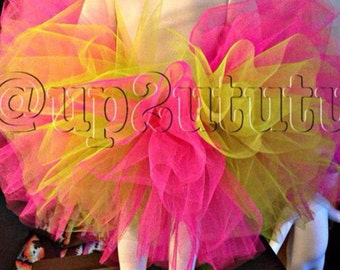 Lime and hot pink tutu