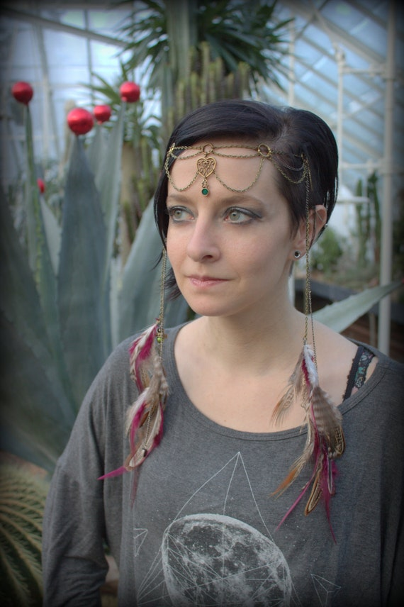 Natural Looking Festival Headpiece Burning Man Friendly Made