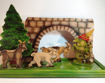 Three Billy Goats Gruff - Handpainted Story Set