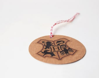 Harry Potter Inspired Hogwarts Crest Gift Tags