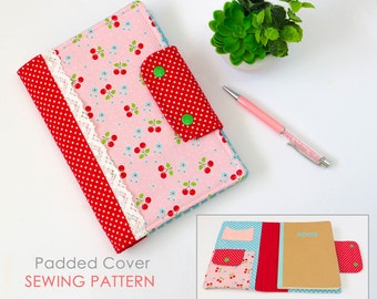 Journal Cover Sewing Pattern | Diary Cover Sewing Pattern | Notebook Cover Pattern | Composition Book Cover Pattern | Gift Sewing Pattern