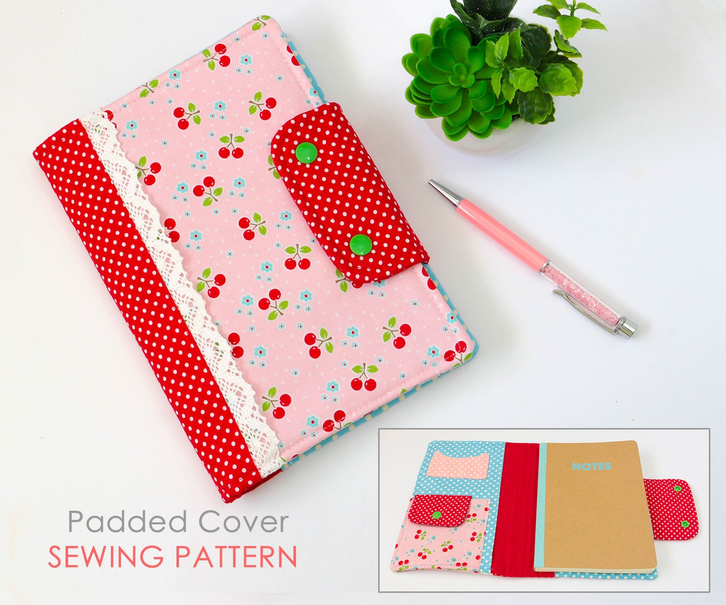 Sewing A Book Cover Pattern ~ Journal cover sewing pattern diary