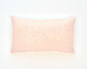 """Baby Pink Lumbar Pillow Cover - Baby Pink Sequin -  12"""" x 20"""" - Decorative Pillow, Throw Pillow, Sparkly Pillow, Pink Pillow"""