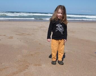 Hipster kids shirt, long sleeved t shirt, minimal clothing, unisex tee, toddler gift