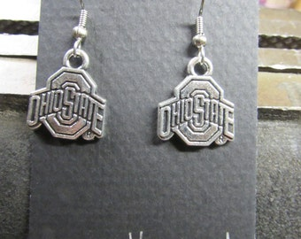 Ohio State earrings, Ohio State jewelry, Ohio, Ohio state football, Ohio State university earrings, Ohio State university, Ohio State