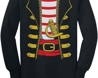 Pirate Halloween Costume - Youth Long Sleeve T-Shirt