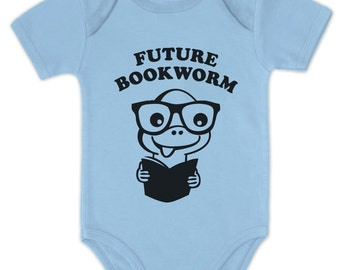 Future Bookworm baby short sleeve bodysuit