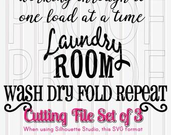 Svg File Set Of 3 Includes Svg Png Jpg Formats Laundry Room