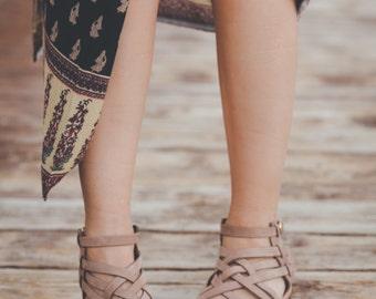 Handmade Greek Leather sandals, women's size EU 40, nubuck sandals,brown nubuck sandals,criss-cross sandals flats, womens woven sandals,
