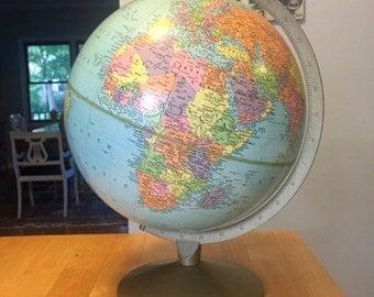 """Vintage Replogle 12"""" Reference Globe"""