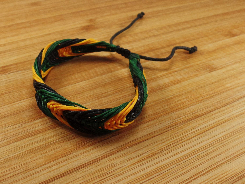rasta bracelet rasta braided bracelet jamaican bracelet