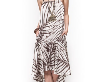 Midi dress / evening dress / day to night dress / straight cut dress / printed dress
