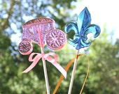 Cinderella Carriage, Cinderella Carriage Centerpieces, Cinderella Party Favors, Cinderella Baby Shower, PRINCESS Party, 9 Lollipop Favors