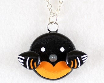 Baltimore Oriole Necklace - Polymer Clay Necklace - Baltimore Oriole Jewelry - Bird Necklace - Bird Jewelry - Polymer Clay Jewelry