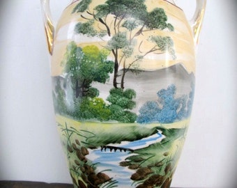 Large Vintage Nishiki Nippon Vase