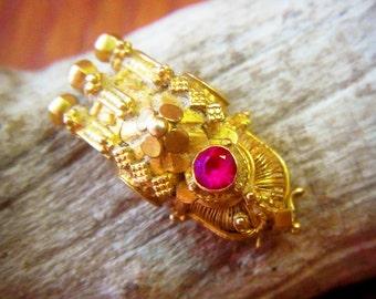 Vintage Wedding Mangalsutra 22K Gold / Thaali Pendant from South India/ Tamil Nadu/ Vanniya Thaali/ FREE SHIPPING
