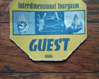 B-52s Concert January 25 1993 Backstage Pass Interdimensional Tourgarsm Cloth Sticker Used