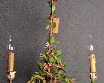 Stunning old tole flower chandelier